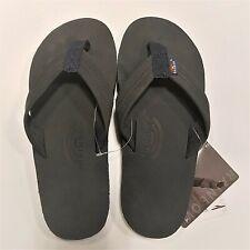 Rainbow Mens Single Layer Sandals Premier Leather Navy Size XXL (12.5-13)