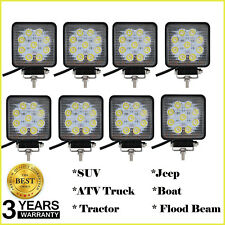 NEW 4inch 27W 12V Round LED Car Truck SUV Premium PMMA Work Spot Light Bulb 8PCS
