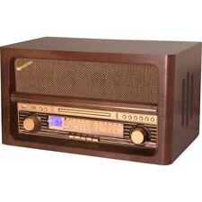 Radio in legno vintage con CD e USB player Roadstar HRA-1540UE/BT