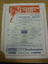 26/12/1946 Southampton v Barnsley  (Single Sheet, Folded, One Corner Missing/Tor