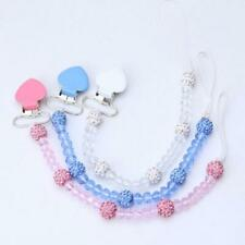 Food Grade Baby Pacifier Clip Newborn Infant Soft Security Nipple Soother Chain