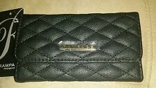 Rampage Women's Tri-Fold card holder Faux Leather Exclusive Black Wallet