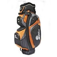 NEW Palm Springs Golf 14 Way Full Length Divider Cart Bag Orange/Silver 16'