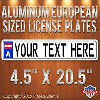 DAISY FLOWER Aquamrine Crystal Bling License Plate Frame Austrian Rhinestones