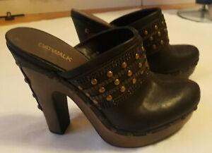 Highheels Sandaletten Clogs Pantoletten mit Nieten Gr. 38 Absatz 14 cm