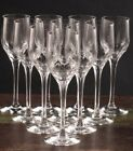 """ORREFORS """"PRELUDE"""" RARE Set Of 11 Cordial SHERRY Stems 6""""H by Nils Landberg MINT"""
