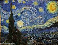 Vincent Van Gogh Starry Night  Giclee Fine Art Canvas Print