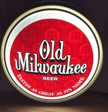 Vintage Old Milwaukee Beer On Tap Round Lighted Advertising Sign. Works!!! Rare