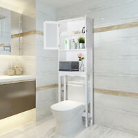 Over The Toilet Space Saving Organizer Shower Storage Cabinet Bathroom Home