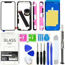 For Apple iPhone XS Front Glass Lens Screen Replacement Kit +LOCA+tool+bezel