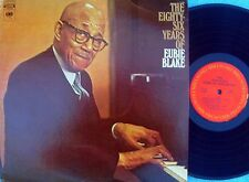 Eubie Blake ORIG US LP Eighty six years of Eubie Blake NM '73 Jazz Rag time
