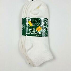VTG Winning Greens & Fairways Golf Socks Size 9-11 Ankle Sports White Retro