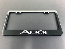 """1pc 3D """"Audi"""" Black Metal License Plate Frame Holder"""