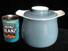 Vintage Poole Pottery Blue Moon Design Lidded Storage Jar - pot large stew