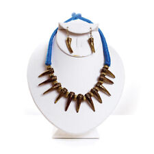 Antique Panther Claw Necklace & Earrings African Jewelry