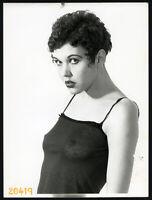 Larger Size fine art Photograph, semi nude girl in transparent shirt, 1970's