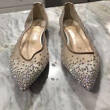 540d4e853a9d CHRISTIAN LOUBOUTIN Follies Strass Crystal Ballet White Patent Shoe EU38