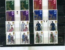 Great Britain Gutter Pairs Small Collection Set Of 16 Stamps Mnh