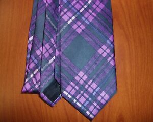 Brooks Brothers 346 Plaid Check Print Hand Made Pure Silk Tie ~NEW~ Made In USA
