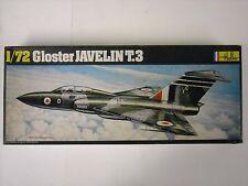 Vintage Heller Gloster Javelin T.3 1:72 Scale Model Airplane Kit #346 Black Box