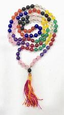 NAVGRAHA 9 stone chakra MALA Hindu Japa Meditation Yoga Necklace Rosary 108