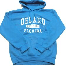 Womens Blue Deland EST 1876 Size Small Hoodie! Florida!