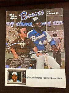 Atlanta Braves 1974 Scorebook Hank Aaron Cover New Never Scored Mint