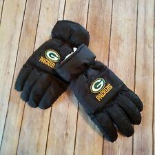 Green Bay Packers Vtg 90s Size XL Winter Gloves Mens Wells Lamont Black Logo