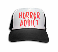 Trucker Cap - Horror Addict Trucker Hat - Snapback Mesh Cap - Horror, Movie