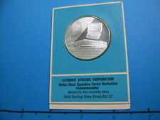 ULTRONIC SYSTEMS 1ST GLOBAL STOCK MARKET QUOTE SERVICE SILVER COIN RARE D44
