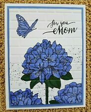 Stampin Up Handmade HAPPY MOTHER'S DAY Greeting CARD KIT Hydrangea Flowers