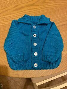 Hand Knit Baby Boy Cardigan/jacket 6-12 Month