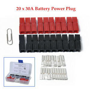 20PCS Car Battery Quik Connector 30Amp Electrical Connector Plug Universal Kit