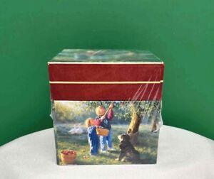 Lang BOB'S BOXES Robert Duncan Nesting Set 3 CHILDREN Picking Fruit NEW SEALED