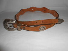 Texas Leather MFG. Hand Finished Genuine Leather USA Size 30 79151  Concho Belt
