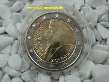 *** 2 EURO Gedenkmünze SLOWENIEN 2008 Primoz Trubar Slovakia Münze Coin KMS ***