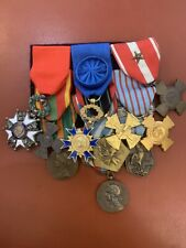 important placard de medailles ww2 - 10 decorations