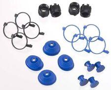 Traxxas E Revo Brushless Pivot Ball Caps (4) Blue Dust Boots Rubber (4) 5378X