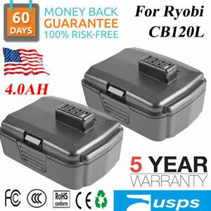 2× 4.0Ah 12V Lithium Battery For Ryobi CB121L 130503001 CB120L BPL-1220 Tools