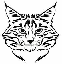 JDM OEM Aufkleber Katze Katzenkopf Maine Coon 12 cm Sticker Folie Decal schwarz