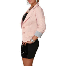 Blazer Damen Jacke Basic Bolero Cardigan Sommerjacke Business tailliert 36-42