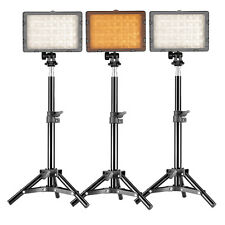 Neewer 3 Set Studio Lighting Kit ( Dimmable Led Video Light + 80cm Light Stand)