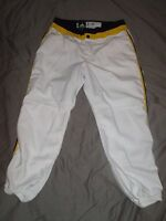 University of MICHIGAN Wolverines Authentic GAME USED Softball Pants Away White