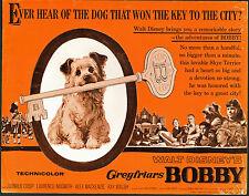 Greyfriars Bobby/Skye Terrier original 1961 Disney movie poster