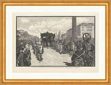 Die Bestattung des Königs Ludwig II. von Baiern Messerschmidt Holzstich E 16277