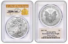 2017-W $1 Silver Eagle ANA DENVER PCGS SP70 Thomas S. Cleveland Signed Label