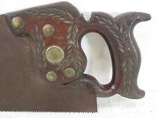"""Vintage G.H. Bishop Wheat Handle Hand Saw- Cinci. Ohio 26"""" 7TPI  #S26"""