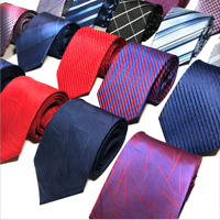 Classic Red Black Blue Mens Tie Paisley Stripe Silk Necktie Set Wedding Jacquard