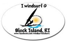 """I Windsurf @ Block Island, Ri Bumper/Window Sticker Oval 3"""" X 5"""""""