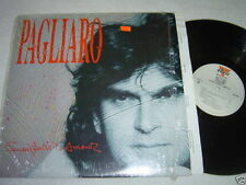 MICHEL PAGLIARO Sous Peine D'Amour LP 1988 Alert Vinyl QUEBEC ROCK GD+/NM Shrink
